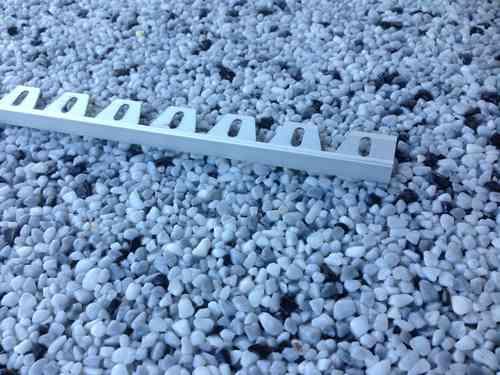 Abschlussprofil 8mm, Alu, eloxiert, 250cm für Kurven und Radien