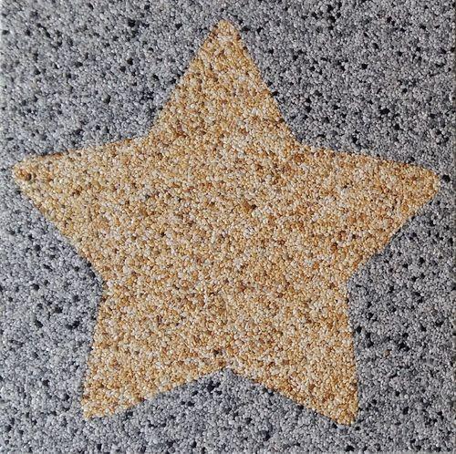 Natursteinteppich Logo Stern, 100x100cm